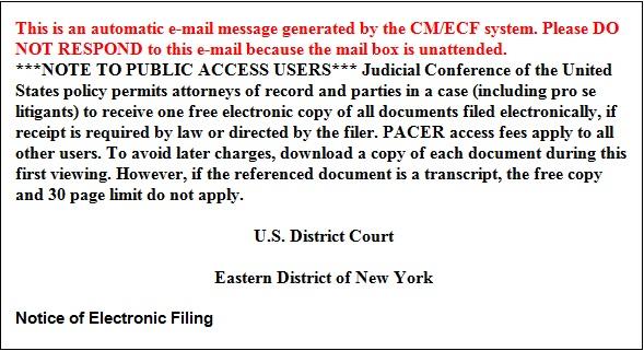 ECF Notice
